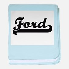 Ford surname classic retro design baby blanket