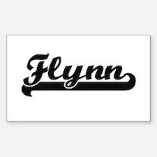 Flynn surname classic retro design Decal