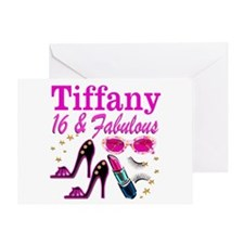 16 AND FABULOUS Greeting Card