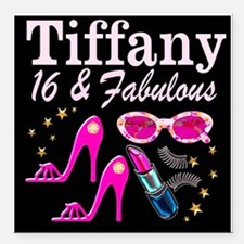 "SNAZZY 16TH DIVA Square Car Magnet 3"" x 3"""