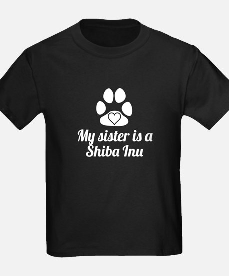 My Sister Is A Shiba Inu T-Shirt