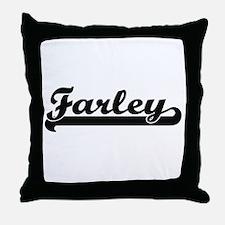 Farley surname classic retro design Throw Pillow