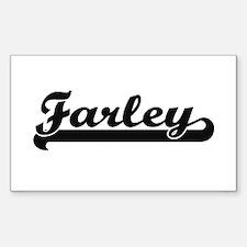 Farley surname classic retro design Decal