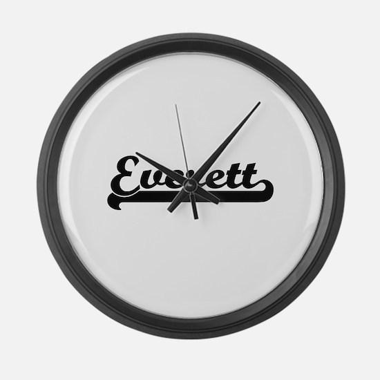 Everett surname classic retro des Large Wall Clock