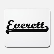 Everett surname classic retro design Mousepad