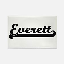 Everett surname classic retro design Magnets