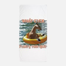 What Ever Floats your Goat Beach Towel