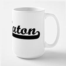 Eaton surname classic retro design Mugs