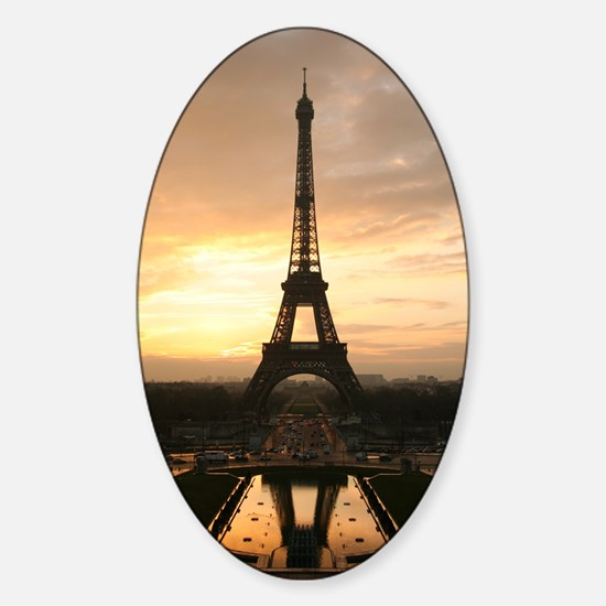 Eiffel Tower Paris Sticker (Oval)