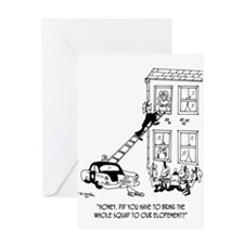 Police Cartoon 5798 Greeting Card