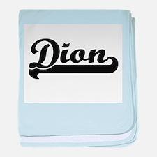 Dion surname classic retro design baby blanket