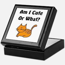 Am I Cute? Cat Keepsake Box