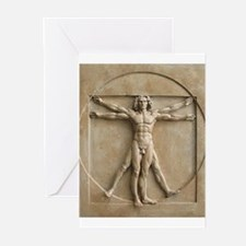 Vitruvian Man relief Greeting Cards (Pk of 10)