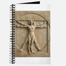 Vitruvian Man relief Journal