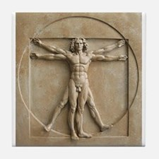 Vitruvian Man relief Tile Coaster