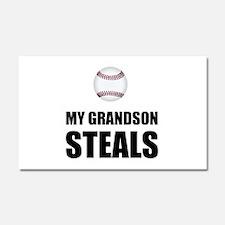 Grandson Steals Baseball Car Magnet 20 x 12