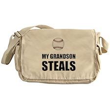 Grandson Steals Baseball Messenger Bag