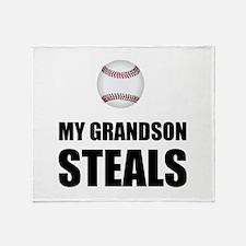 Grandson Steals Baseball Throw Blanket