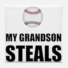 Grandson Steals Baseball Tile Coaster