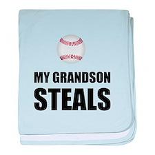 Grandson Steals Baseball baby blanket