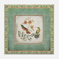 Chinoiserie Hummingbird n Exotic Flor Tile Coaster