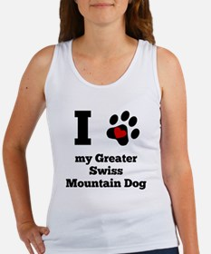 I Heart My Greater Swiss Mountain Dog Tank Top