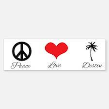 Peace Love Destin Bumper Car Car Sticker