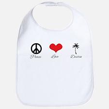 Peace Love Destin Bib