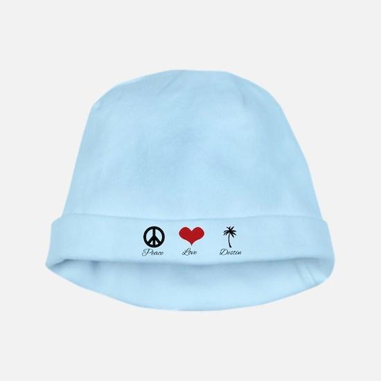 Peace Love Destin baby hat