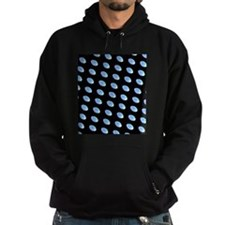 Blue Black Football for Perry Hoodie