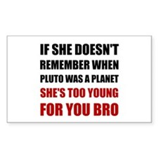 Pluto Planet Young Decal