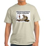 OIF Support our Soldiers Ash Grey T-Shirt