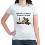 OIF Support our Soldiers Jr. Ringer T-shirt