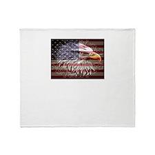Cute Patriotic women Throw Blanket