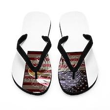 Cute Patriotic for women Flip Flops