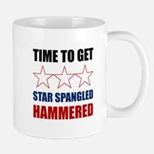 Star Spangled Hammered Mugs