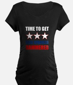 Star Spangled Hammered Maternity T-Shirt