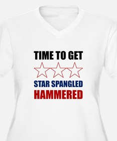 Star Spangled Hammered Plus Size T-Shirt