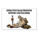 OIF Support our Soldiers Rectangle Sticker