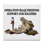 OIF Support our Soldiers Tile Coaster