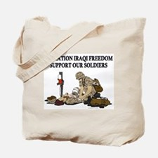 OIF Support our Soldiers Tote Bag
