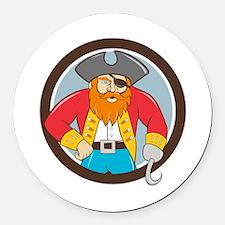 Captain Hook Pirate Circle Cartoon Round Car Magne