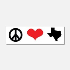 Peace Love Texas Car Magnet 10 x 3