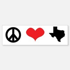 Peace Love Texas Bumper Bumper Bumper Sticker