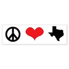 Peace Love Texas Bumper Bumper Sticker