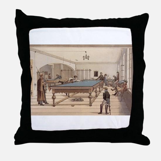 billiards art Throw Pillow