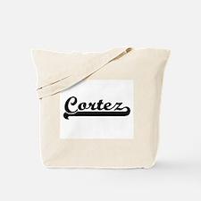 Cortez surname classic retro design Tote Bag