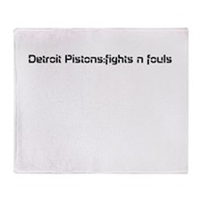 pistons Throw Blanket