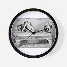 billiards art Wall Clock