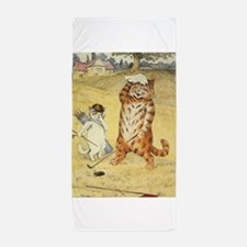 golfing art Beach Towel